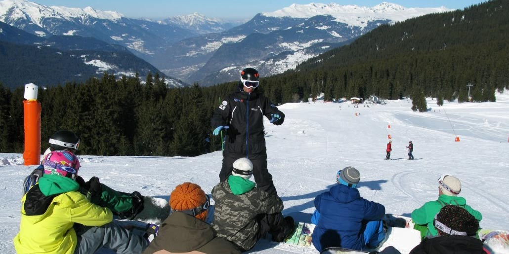 Beginner Snowboard Courses In Courchevel